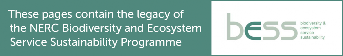These pages contain the archive of the NERC Biodiversity and Ecosystem Service Sustainability (BESS) programme