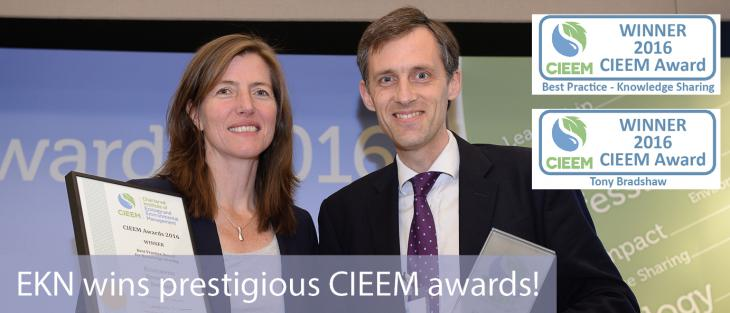EKN wins two CIEEM awards
