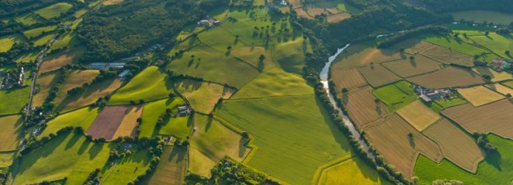 Aerial view of English rural scene © istockphoto.com/fotoVoyager