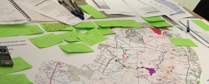 Participatory planning process in the Pentland Hills. Credit: Collingwood Environmental Planning