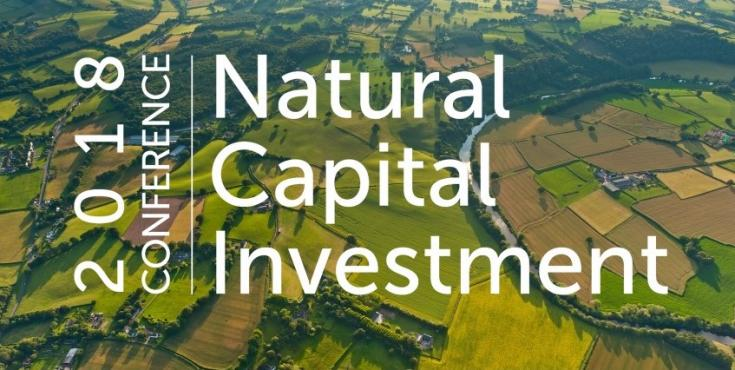 Natural Capital Investment Conference banner image - logo over farmed landscape