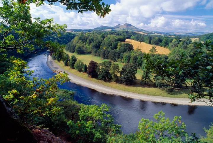 The River Tweed and its catchment (Credit: Scottish Borders Land Use Pilot)