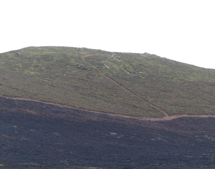 Damage caused by wildfire to the Roaches