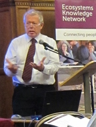 Poul Christensen CBE, Chair of Natural England, addressing the workshop on 29th April, 2013